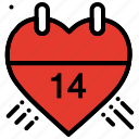 calendar, celebration, heart, love, valentines day, wedding icon