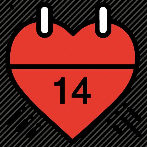 calendar, celebration, heart, love, valentines day, wedding icon