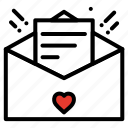 email, heart, love letter, love message, love proposal, valentine icon