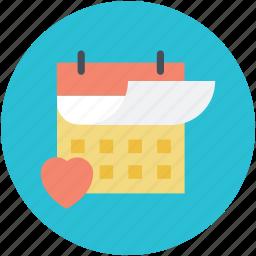 14 february, dating, heart calendar, love inspiration, valentine day icon