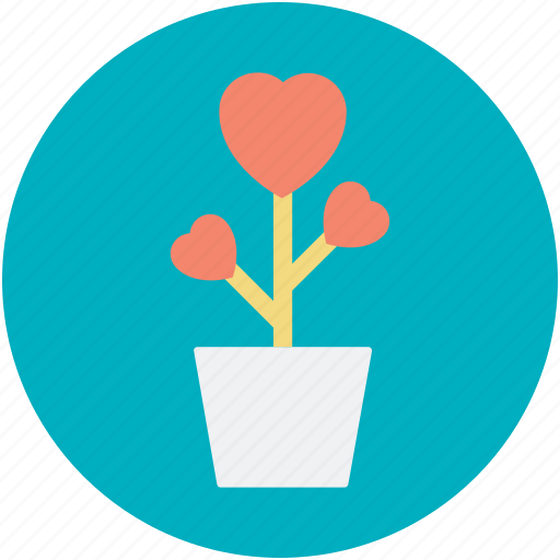 Heart flowers, love, love concept, plant, romantic icon - Download on Iconfinder