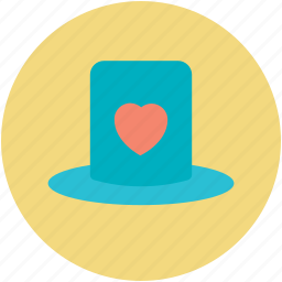 cap with heart, hat with heart, love sign, passion, valentine day theme icon