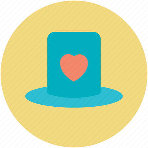 Cap with heart, hat with heart, love sign, passion, valentine day theme icon - Download on Iconfinder