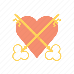 hearth, key, love, padlock, valentine, valentine's, valentines day icon