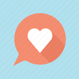 hearth, love, lovely, speech bubble, valentine, valentine's, valentines day icon
