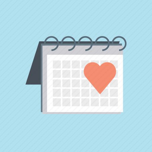 calendar, february, hearth, love, valentine, valentine's, valentines day icon