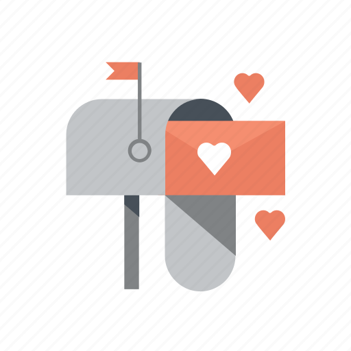 e-mail, inbox, love letter, send mail, valentine, valentine's, valentines day icon