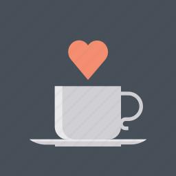 coffee, hearth, hot, love, valentine, valentine's, valentines day icon