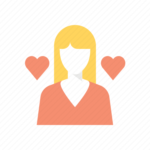 girl, girl friend, valentine, valentine's, valentines day, woman icon