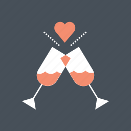 hearth, love, valentine, valentine's, valentines day, wine icon