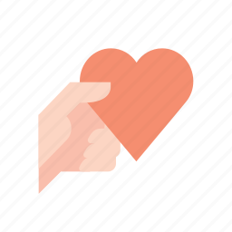 give, hand, hearth, love, valentine, valentine's icon
