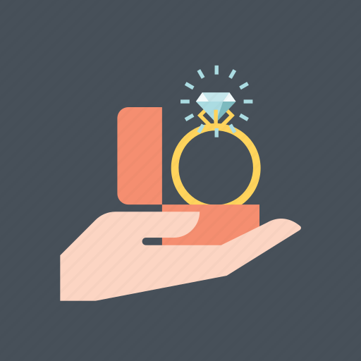 diamond, engagement, hand, hearth, marry, ring, valentine's icon