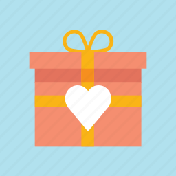 box, gift, hearth, love, valentine, valentine's, valentines day icon