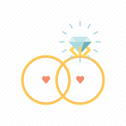 engagement, marry, ring, rings, valentine, valentine's, valentines day icon