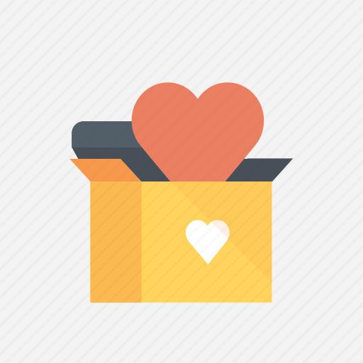 box, gift, love, prezent, valentine, valentine's, valentines day icon