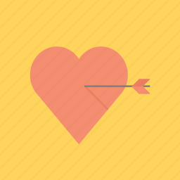 arrow, eros, hearth, love, valentine, valentine's, valentines day icon