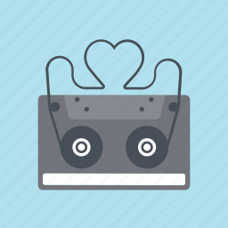 casette player, hearth, love, love songs, music, song, valentines day icon
