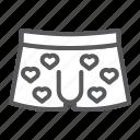 men, underwear, valentines, day, clothes, sexy, heart