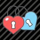 love, lock, padlock, wedlock, wedding, heart, couple
