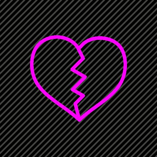Brokenheart, valentine, love, gift, birthday, gifts icon - Download on Iconfinder