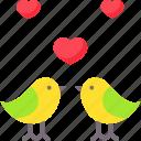 birds, heart, love, valentine, valentines