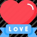 heart, love, ribbon, valentine, valentines icon