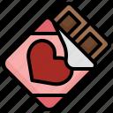 chocolate, bar, sweet, food, and, restaurant, dessert