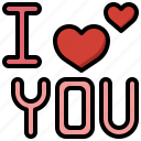 i, love, you, heart, valentines, day, declaration