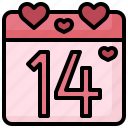 valentines, day, calendar, time, date, love, romance