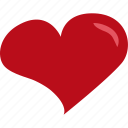 heart, love, red, romance, valentines icon
