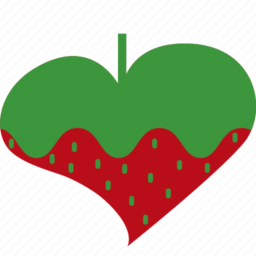 fruit, green, hearts, raspberry, red, valentines icon