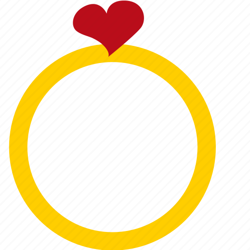 hearts, love, ring, romance, valentines icon