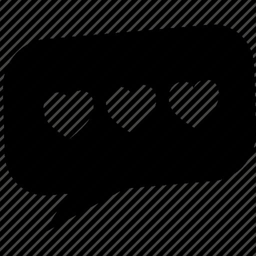 bubble, chat, communication, letter, message, romance, valentine icon