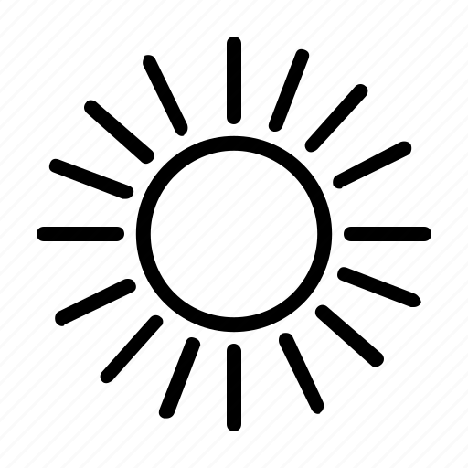 electric, electricity, energy, heat, power, source, sun icon
