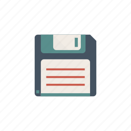 computer, floppy, oldschool, tecnology, vintage icon