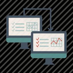 comunication, data, exchange, transmission icon