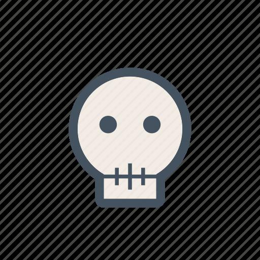 death, die, face, medical, skull, smile icon