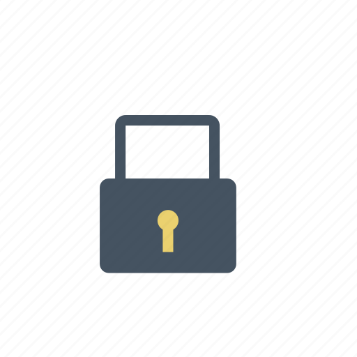 padlock, privacy, security icon