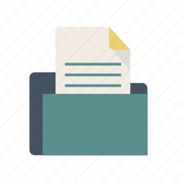 bag, collector, documents, file, files icon