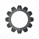 design, factory, gear, industry, metal, technology icon