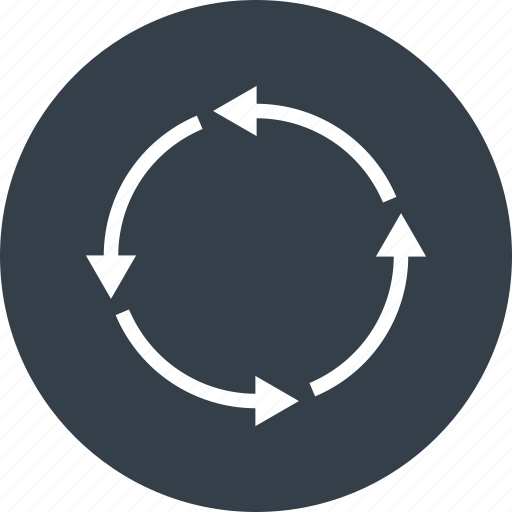 arrow, circle, direction, refresh, reload, repeat, rotate icon