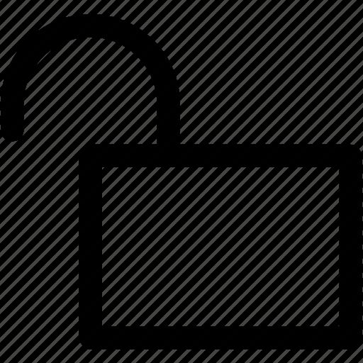 access, key, open, padlock, protection, sketch, unlock icon