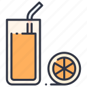 drink, fresh, fruit, glass, healthy, juice, orange icon