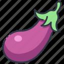 eggplant, food, vegan, organic, aubergine, healthy, vegetarian icon