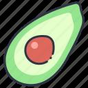 avocado, food, fruit, healthy, organic, vegan, vegetarian icon