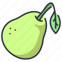 food, fruit, healthy, leaf, pear, vegan, vegetarian