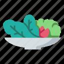 food, fresh, healthy, meal, salad, vegan, vegetarian icon