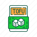 food, health care, healthy, lifestyle, package, tofu, vegan icon