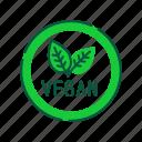 emblem, food, health care, label, lifestyle, vegan, vegetarian icon