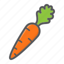 carrot, diet, food, health, vegetable, vegetarian, vitamin icon